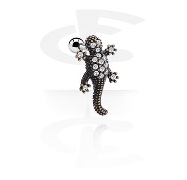 Helix / Tragus, Tragus Piercing with gecko attachment, Surgical Steel 316L
