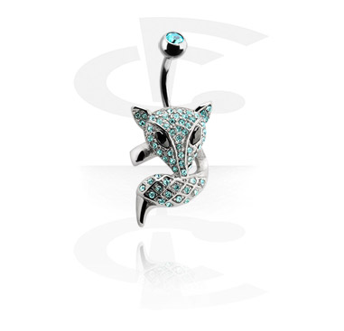 Banana with jeweled Fox<br/>[Surgical Steel 316L]