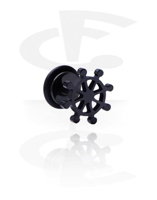 Fake Piercings, Black Fake Plug
