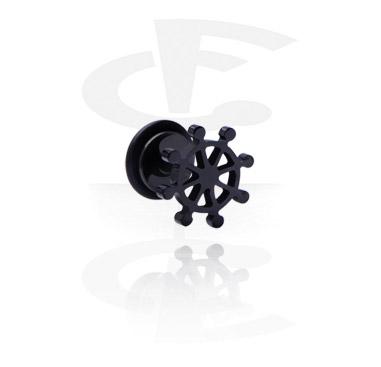 Fake Piercings, Black Fake Plug, Surgical Steel 316L