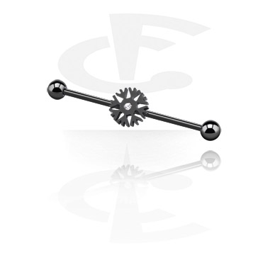 Black Industrial Barbell