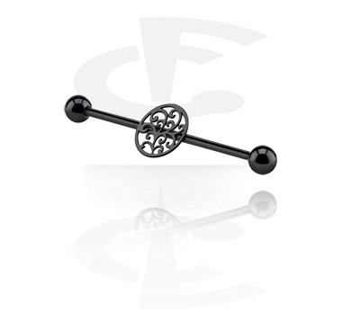 Svart Industrial Barbell