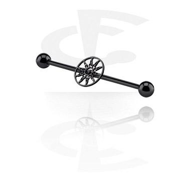 Black Industrial Barbell