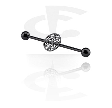 Industrial barbell preto