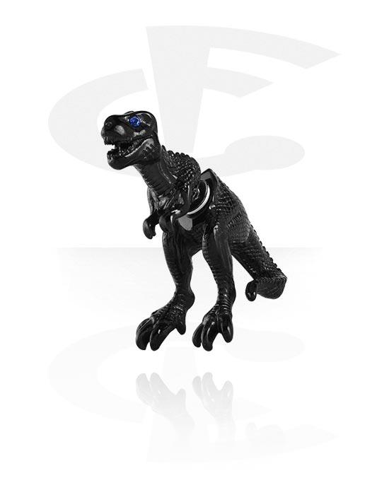 Feikkikorut, Fake plug kanssa Dinosaur Design, Kirurginteräs 316L