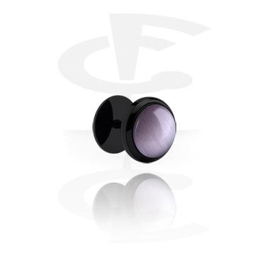Fake Piercings, Falso plug negro, Acero quirúrgico 316L