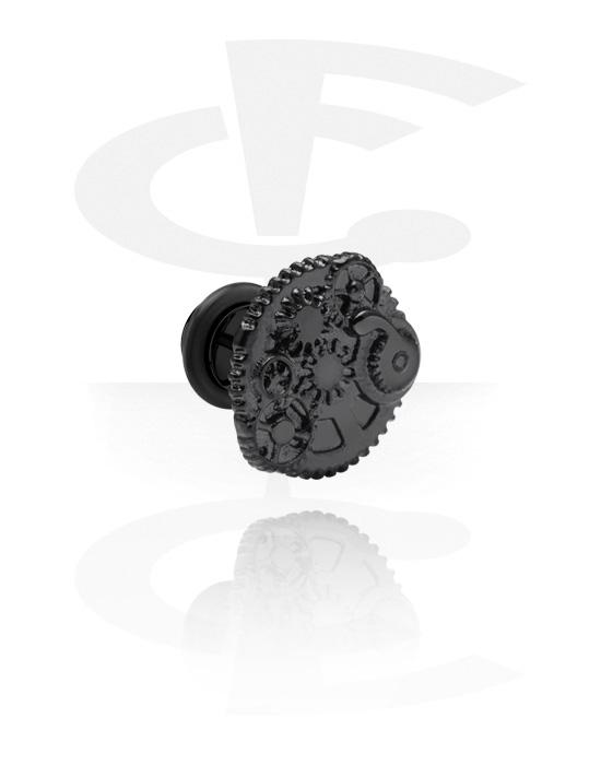 Falešné piercingové šperky, Black Fake Plug, Chirurgická ocel 316L