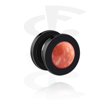 Tunnels & Plugs, Black Tunnel, Surgical Steel 316L