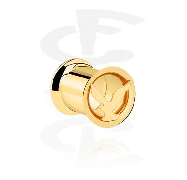 Tunele & plugi, Double Flared Tube, Gold Plated
