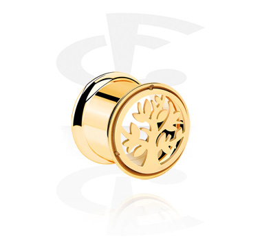Tunnels & Plugs, Tunnel, Gold Plated Surgical Steel