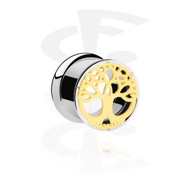 Tunnels & Plugs, Tunnel, Gold-Plated Surgical Steel