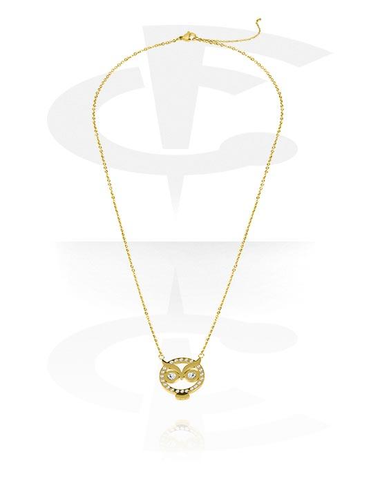 Ogrlice, Fashion Necklace, Pozlaćeni kirurški čelik 316L