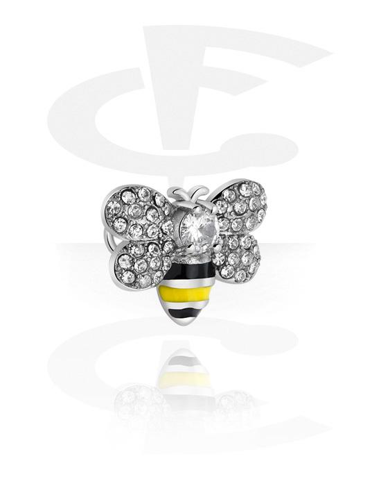 Palloja, nappeja ynnä muuta, Attachment for Industrial Barbell kanssa Bee Design, Kirurginteräs 316L