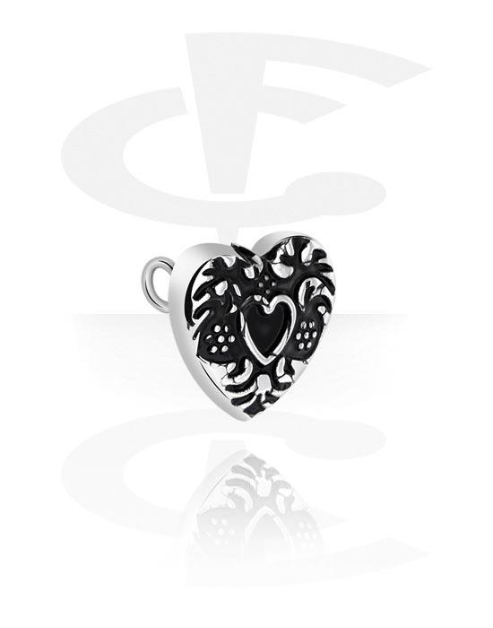 Palloja, nappeja ynnä muuta, Attachment for Industrial Barbell kanssa Heart Design, Kirurginteräs 316L