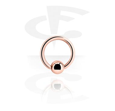 Rosegold Ball Closure Ring