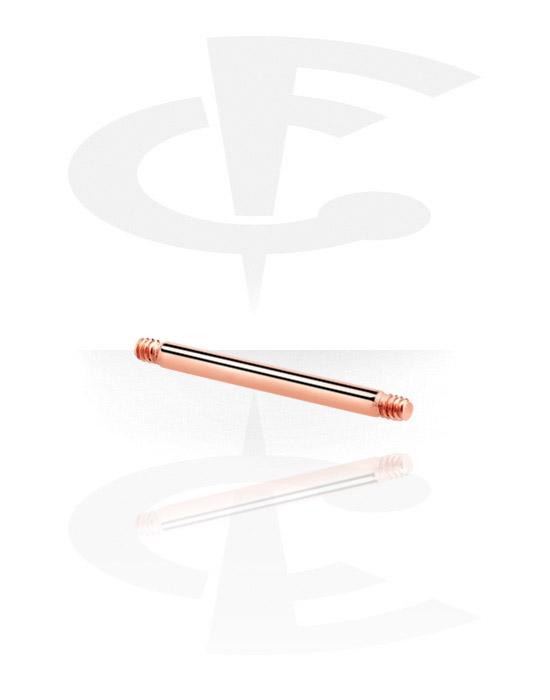 Kuličky, kolíčky a další, Barbell Pin, Chirurgická ocel 316L pozlacená růžovým zlatem