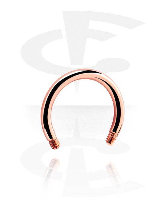 Kulor, stavar & mer, Circular Barbell Pin, Roséförgyllt kirurgiskt stål 316L