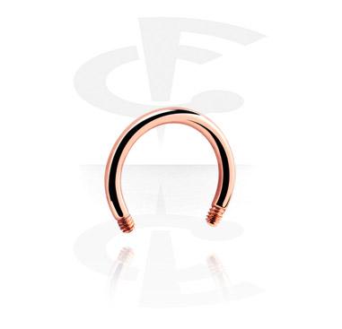 Rosegold Circular Barbell Pin