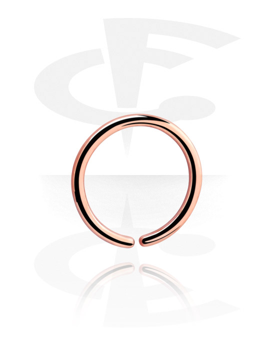 Piercing Rings, Continuous Ring, Rose Gold Plated Surgical Steel 316L