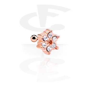 Helix / Tragus, Tragus Piercing, Rosegold Plated Surgical Steel 316L