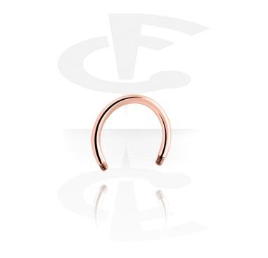 Kuličky a náhradní koncovky, Rosegold Circular Barbell Pin, Surgical Steel 316L