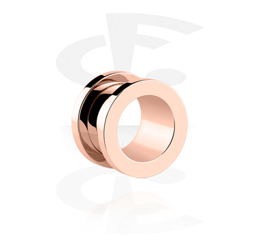 Tunnels & Plugs, Tunnel, Rosegold Plated Surgical Steel 316L