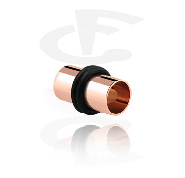 Tunely & plugy, Rosegold Flesh Tube, Surgical Steel 316L