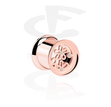 Tunele & plugi, Double Flared Tube, Rose Gold Plated Steel