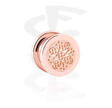 Tunnels & Plugs, Tunnel, Rosegold Plated Steel