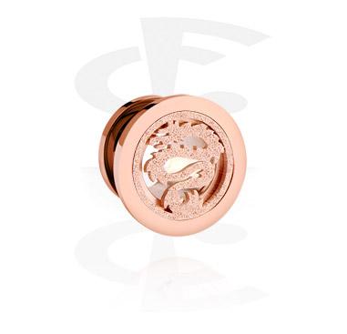 Tunnel & Plug, Tunnel, Acciaio con placcatura in oro rosato