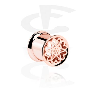 Tunnels & Plugs, Tunnel, Rosegold-Plated Steel