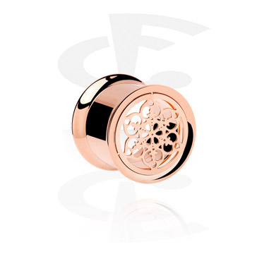 Tunely & plugy, Rosegold Double Flared Tube<br/>[Surgical Steel 316L], Surgical Steel 316L