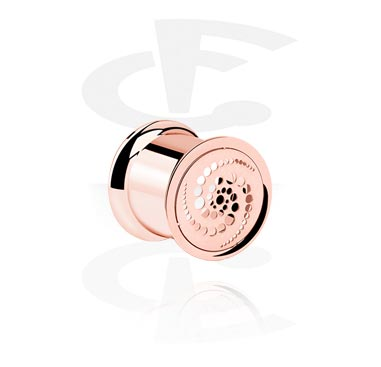 Tunele & plugi, Rosegold Double Flared Tube<br/>[Surgical Steel 316L], Surgical Steel 316L