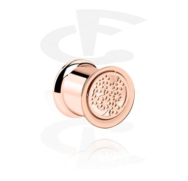 Double Flared Tube ouro rosé