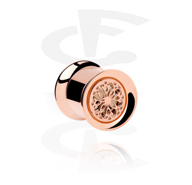 Tunnels & Plugs, Roségouden Double Flared Tube, Roségoud
