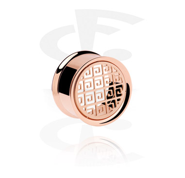 Rose gold double flared tube