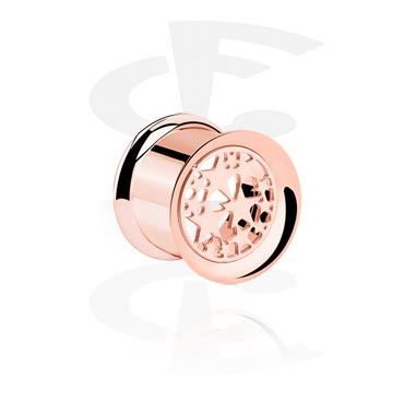 Rosegold Double Flared Tube<br/>[Surgical Steel 316L]