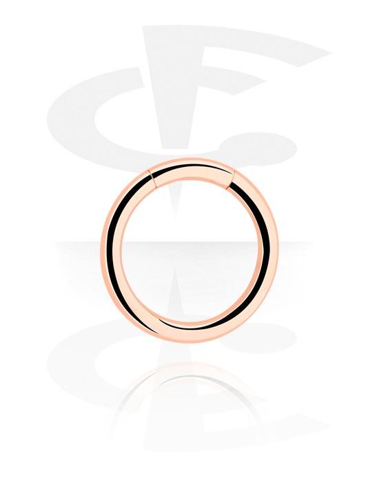 Piercing Ringe, Mehrzweck-Klicker, Rosé-Vergoldeter Chirurgenstahl 316L