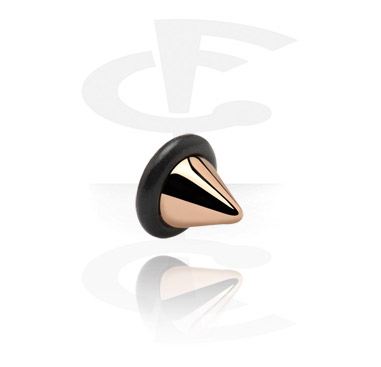 Kulki i inne zakończenia, UFO Cone<br/>[Surgical Steel 316L/Rosegold], Rose Gold Plated Steel