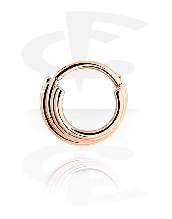 Alke za piercing, Višenamjenski kliker, Kirurški čelik pozlaćen ružičastim zlatom 316L