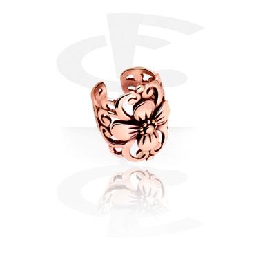 Imitacja biżuterii do piercingu, Ear Cuff, Rose Gold Plated Steel