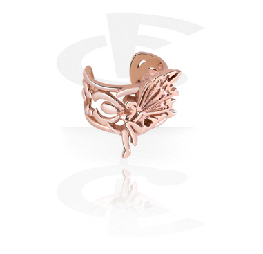 Imitacja biżuterii do piercingu, Ear Cuff, Rose Gold Plated Steel