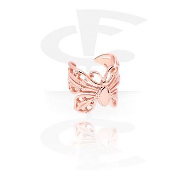 Falešné piercingové šperky, Ear Cuff, Rose Gold Plated Steel