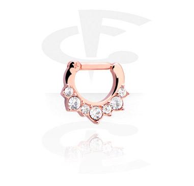 Jeweled Septum con hinge e crystal stones