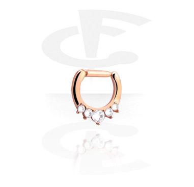 Septum Clicker com pedrinhas de cristal