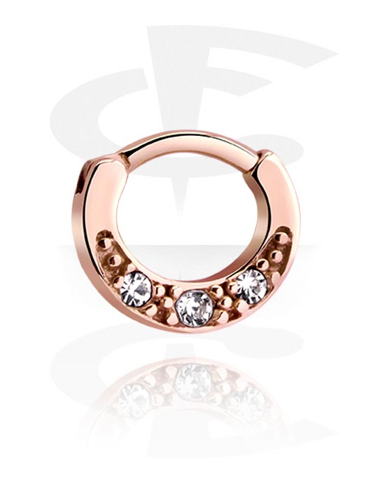 Jeweled Septum Rosegold Plated Surgical Steel 316l Crazy