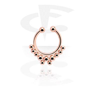 Falešné piercingové šperky, Fake Septum, Rose Gold Plated Steel