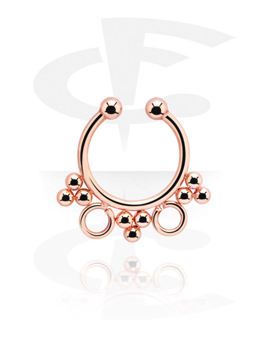 Fake Piercings, Fake Septum, Rose Gold Plated Surgical Steel 316L