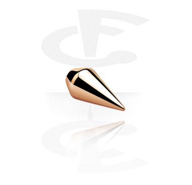 Kuličky a náhradní koncovky, Spear Cone<br/>[Surgical Steel 316L/Rosegold], Rose Gold Plated Steel