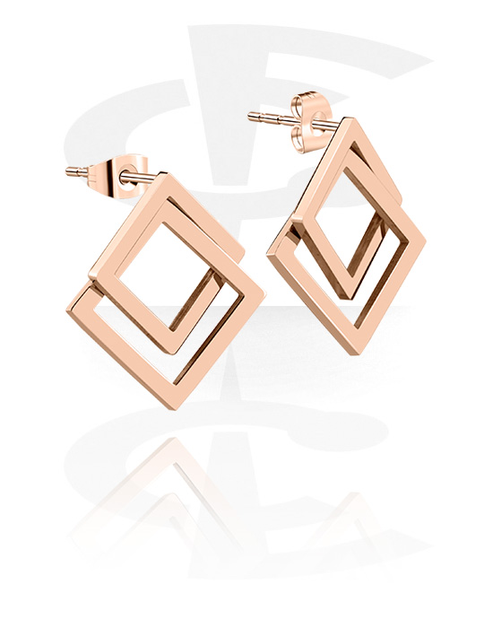 Earrings, Studs & Shields, Ear Studs, Rose Gold Plated Surgical Steel 316L